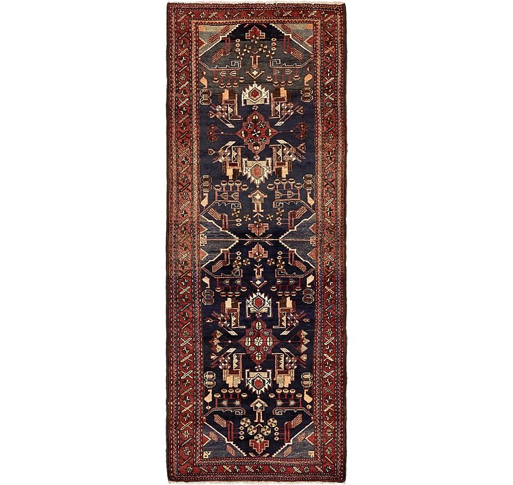 3' 6 x 9' 8 Khamseh Persian Runner ...