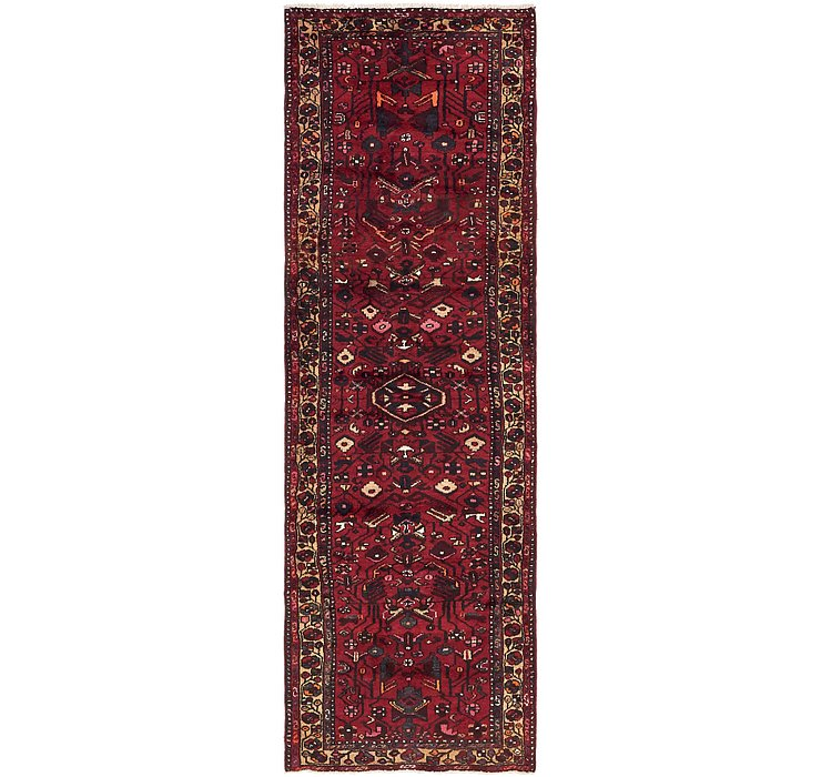 3' 2 x 9' 9 Khamseh Persian Runner ...