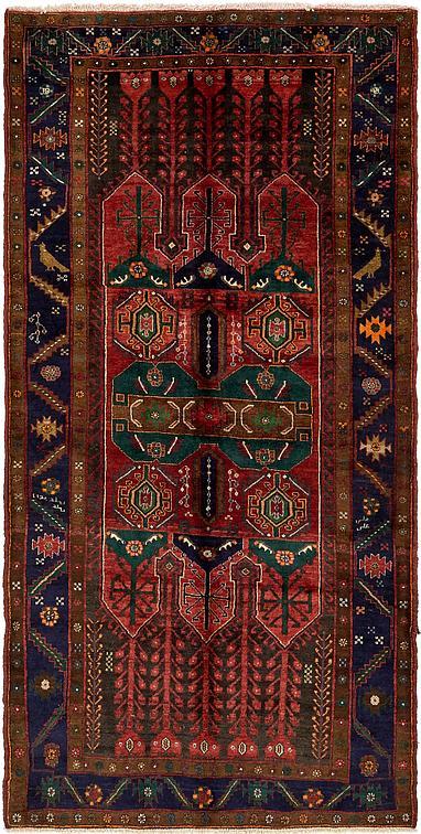 Red 5 5 X 10 9 Sirjan Persian Runner Rug Persian Rugs