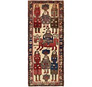 Link to 4' 6 x 11' Shiraz-Lori Persian Runner Rug