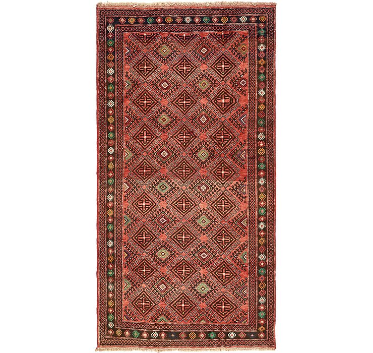 4' 10 x 9' 8 Shiraz Persian Runner Rug