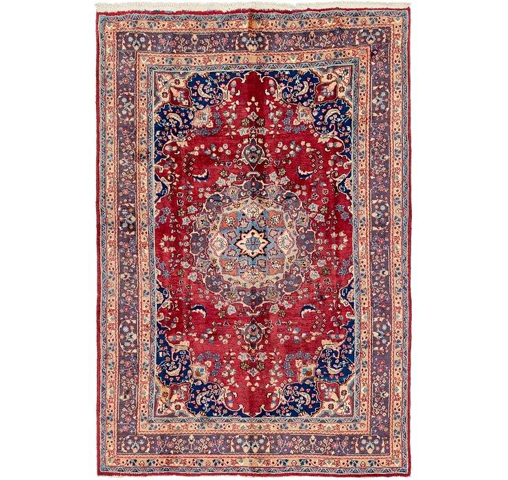 6' 4 x 9' 2 Mashad Persian Rug