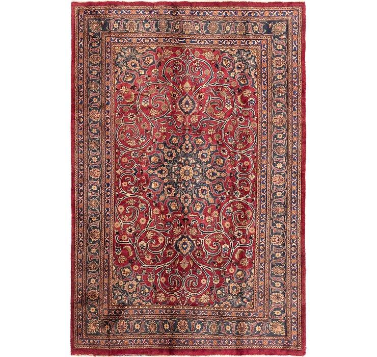193cm x 292cm Mashad Persian Rug
