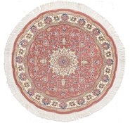 Link to 105cm x 105cm Tabriz Persian Round Rug