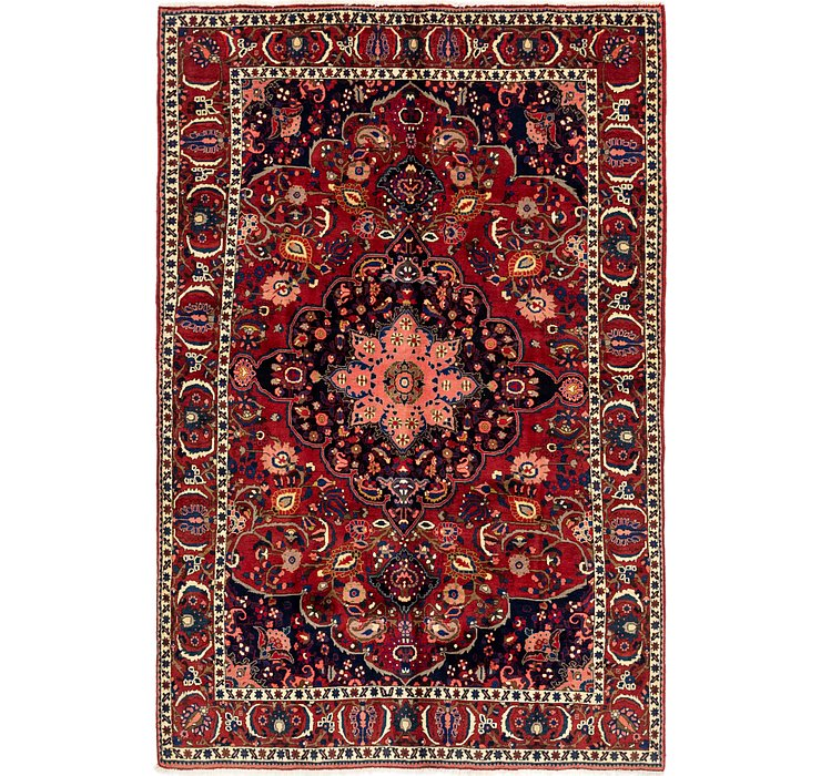 6' 8 x 10' 3 Bakhtiari Persian Rug