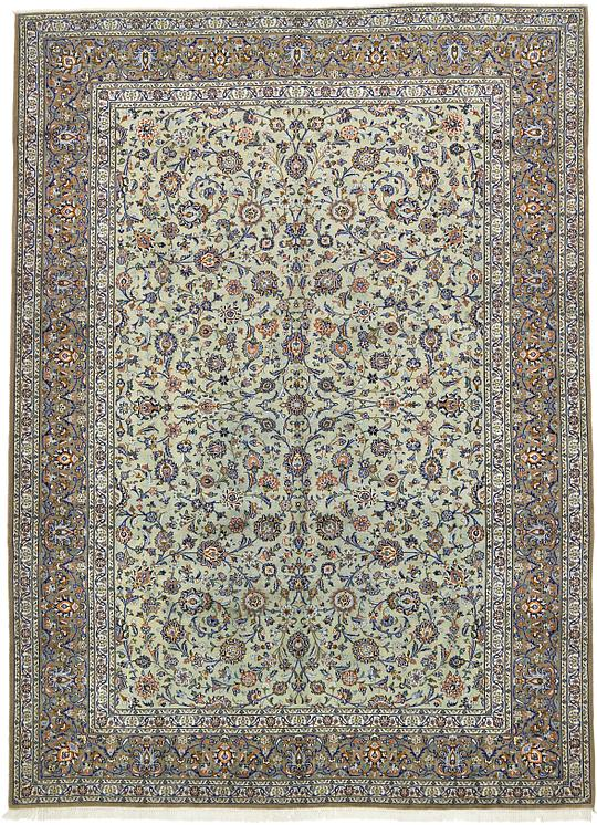 Light Green 10 2 X 14 Kashan Persian Rug Persian Rugs