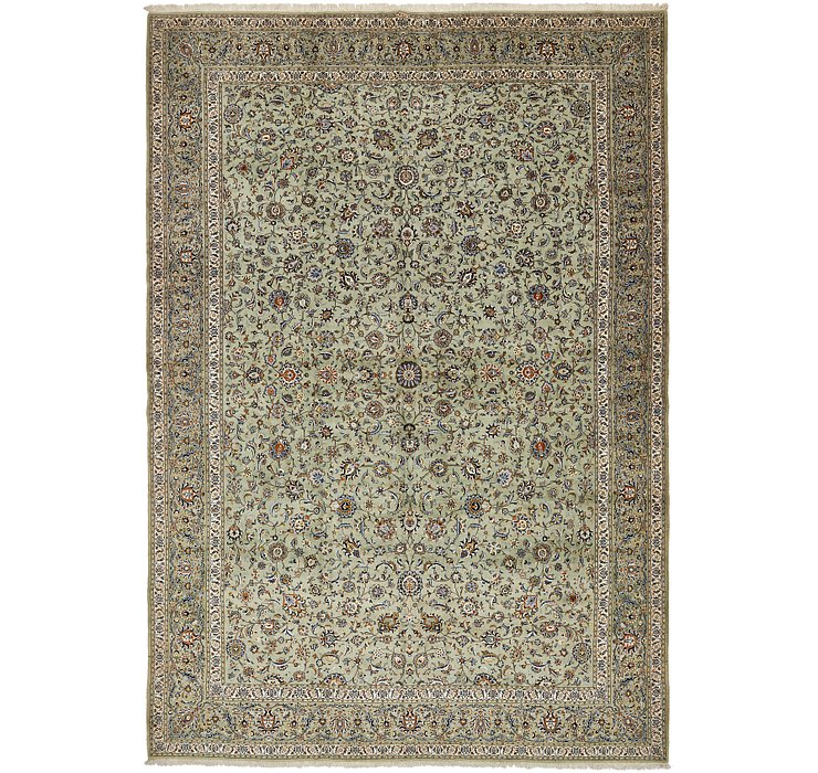 395cm x 572cm Kashan Persian Rug