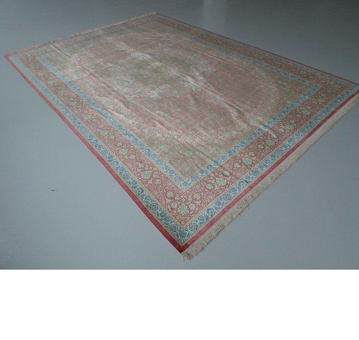 8' 2 x 11' 2 Qom Persian Rug