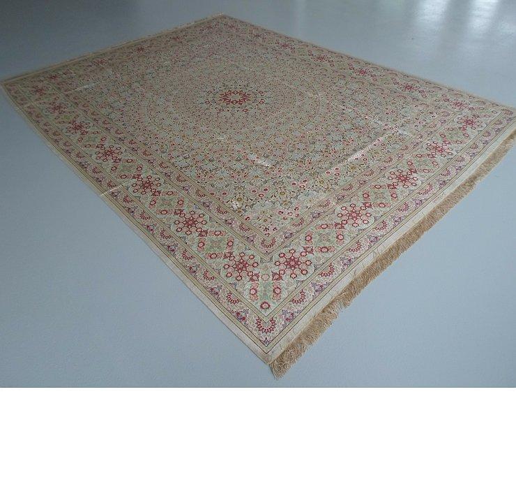 9' 8 x 12' 10 Qom Persian Rug