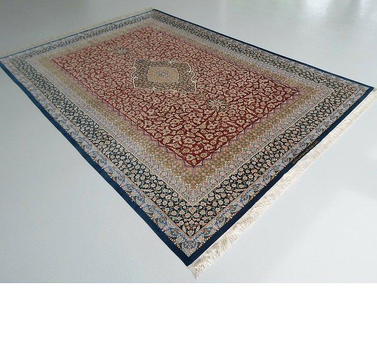 8' 1 x 11' 3 Qom Persian Rug