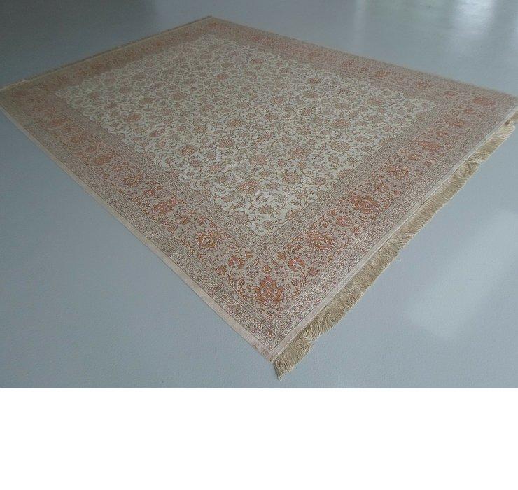 9' 7 x 12' 10 Qom Persian Rug