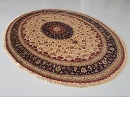 Link to 11' 6 x 13' 1 Qom Persian Oval Rug