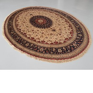 Unique Loom 11' 6 x 13' 1 Qom Persian Oval Rug