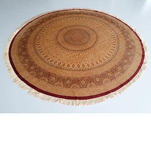 Unique Loom 9' 10 x 9' 10 Qom Persian Round Rug