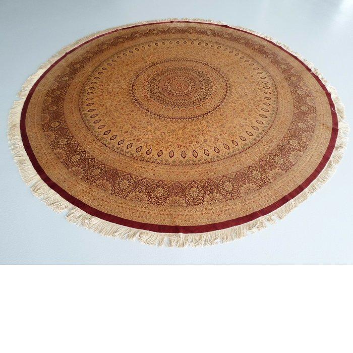9' 10 x 9' 10 Qom Persian Round Rug