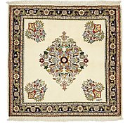 Link to 3' 9 x 3' 10 Shahrbaft Persian Square Rug