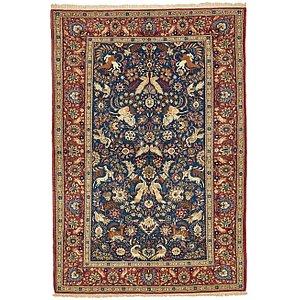 4' 6 x 6' 11 Kashan Persian Rug