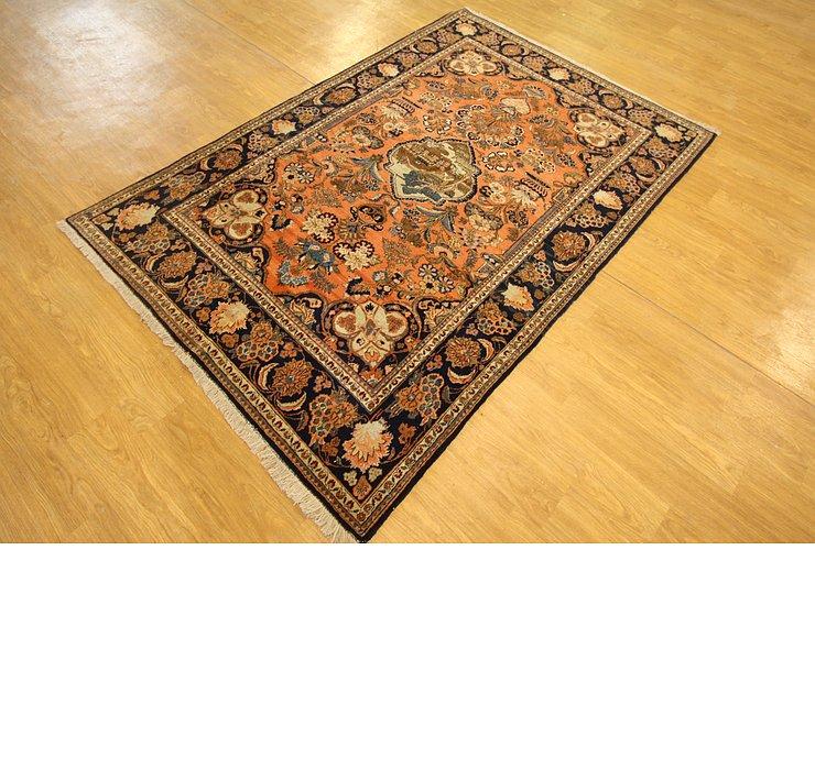 4' 4 x 6' 5 Kashan Persian Rug