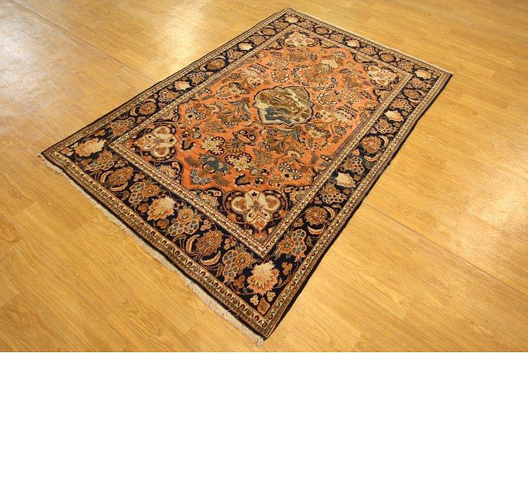 130cm x 198cm Kashan Persian Rug
