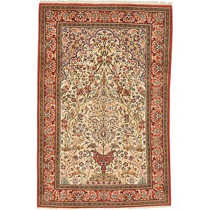 6' 7 x 10' Qom Persian Rug