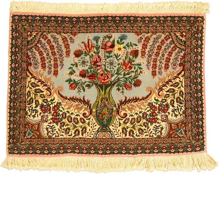 2' x 2' 10 Tabriz Persian Square Rug
