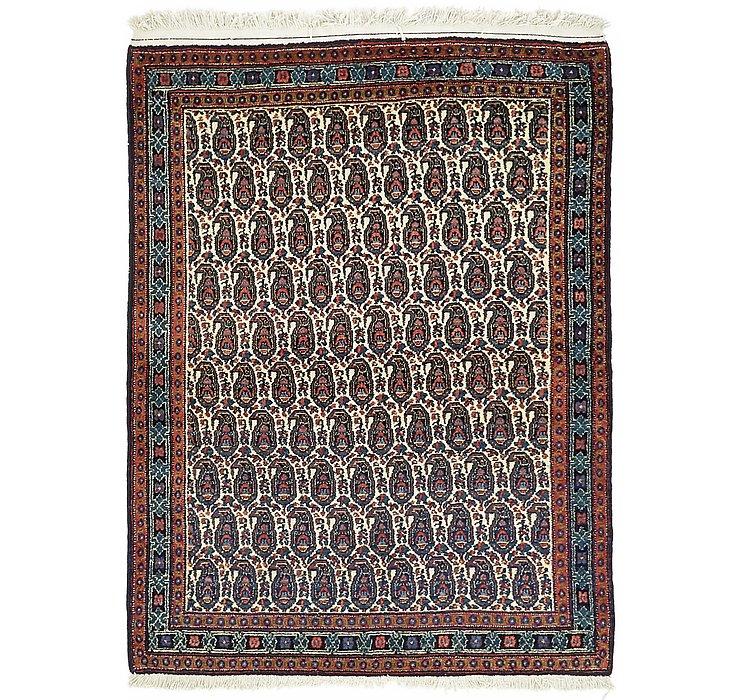 3' 11 x 5' 2 Sanandaj Persian Rug