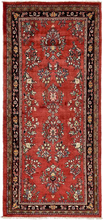 Red 4 11 X 10 8 Farahan Persian Runner Rug Persian