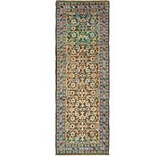 Link to 107cm x 310cm Hossainabad Persian Runner Rug
