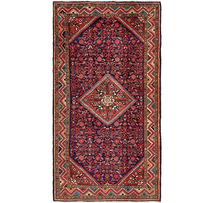 HandKnotted 5' 3 x 10' Hossainabad Persian Rug