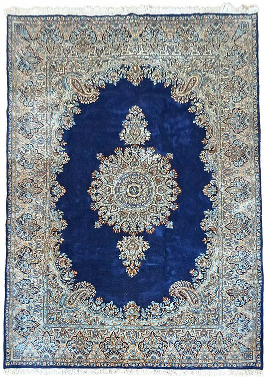 Navy Blue 6 7 X 9 10 Kerman Persian Rug Persian Rugs