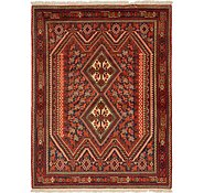 Link to 135cm x 178cm Mazlaghan Persian Rug