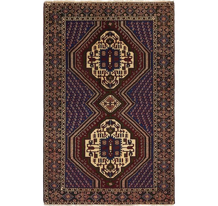 4' 2 x 6' 6 Sirjan Persian Rug