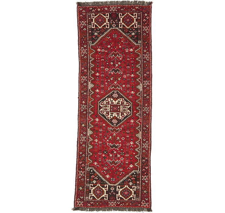 3' 7 x 9' 10 Shiraz Persian Runner Rug