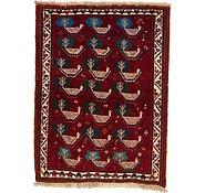 Link to 107cm x 142cm Ghashghaei Persian Rug