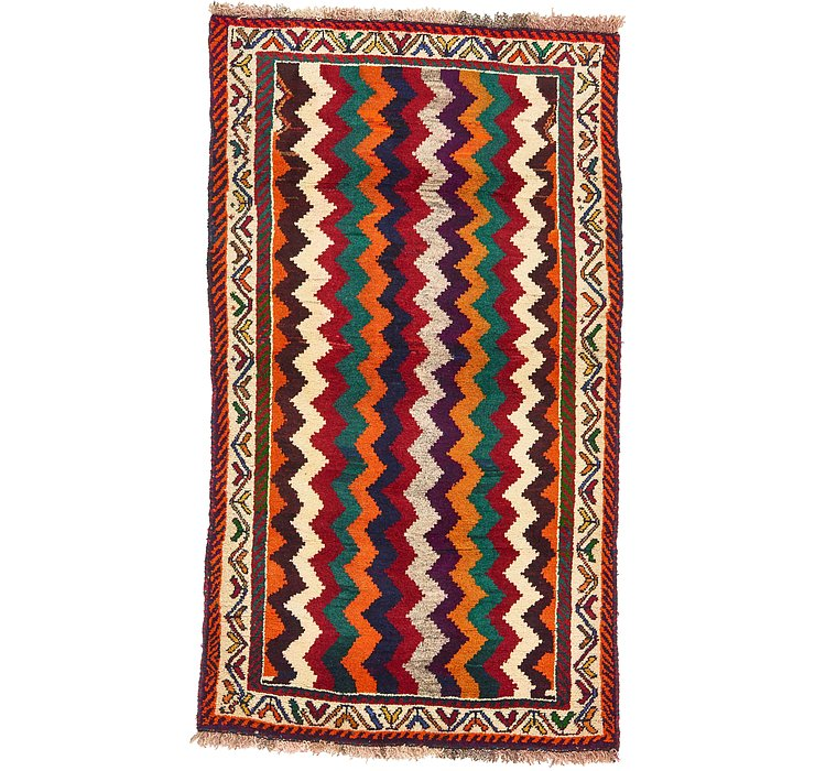 3' 2 x 5' 7 Ghashghaei Persian Rug