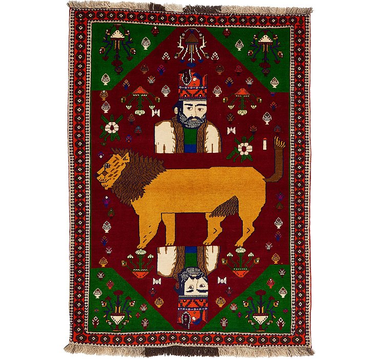 127cm x 175cm Ghashghaei Persian Rug