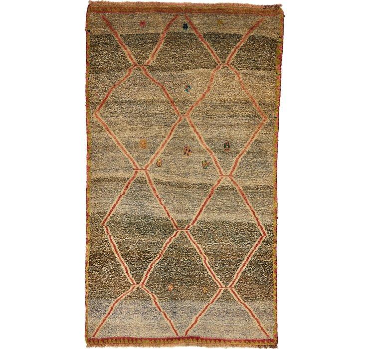 4' 5 x 7' 9 Shiraz-Gabbeh Persian Rug