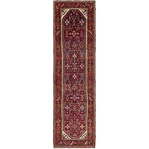 Unique Loom 3' 8 x 13' 3 Hossainabad Persian Run...