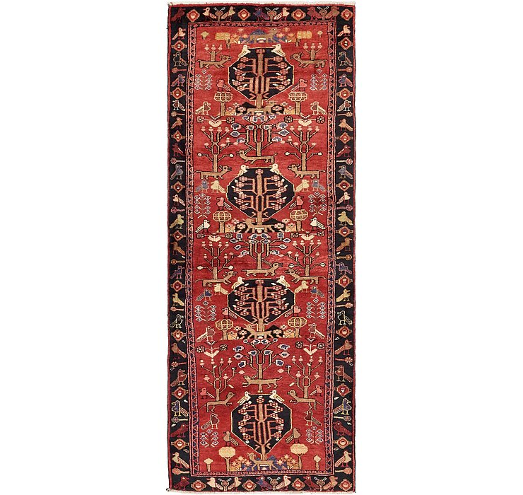 3' 8 x 10' Zanjan Persian Runner Rug