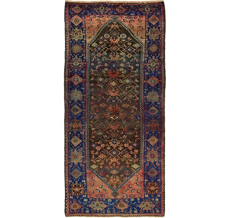 4' 7 x 10' 2 Zanjan Persian Runner Rug