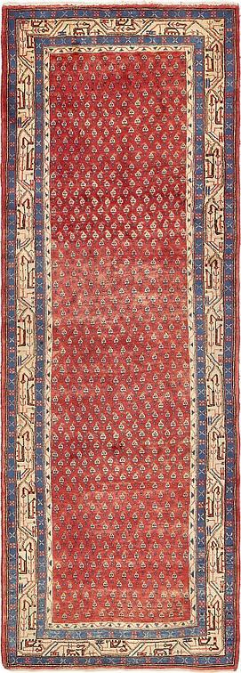 Red 3 7 X 10 3 Farahan Persian Runner Rug Persian Rugs