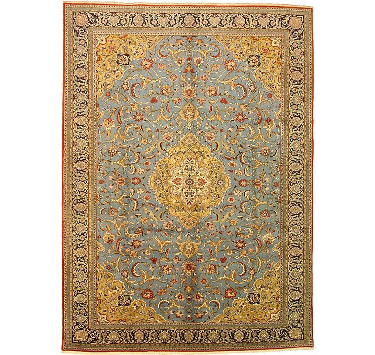 9' x 12' 5 Qom Persian Rug