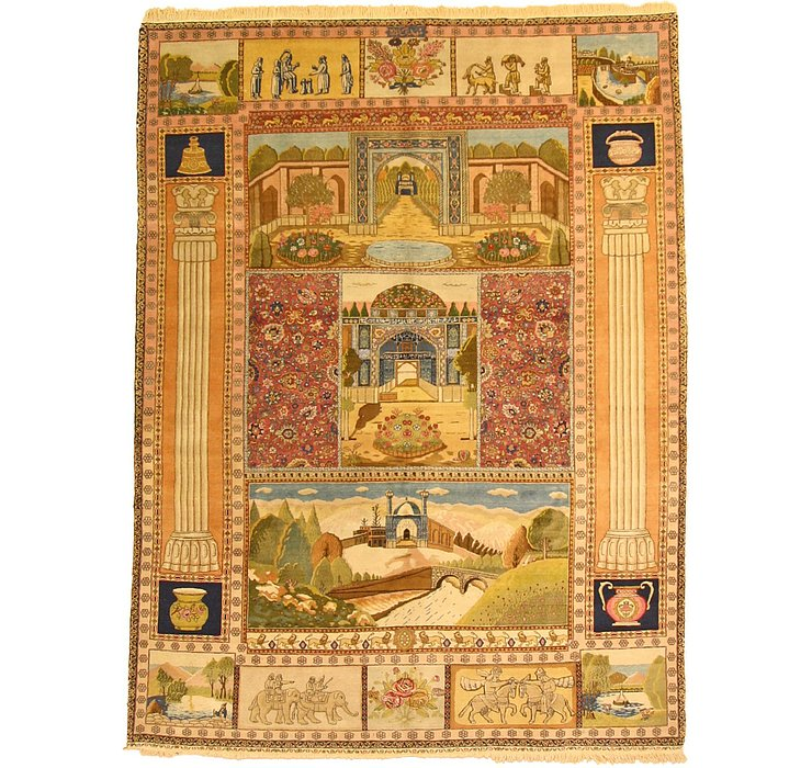 6' 11 x 9' 1 Tabriz Persian Rug