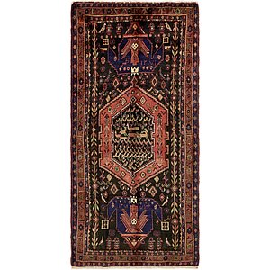 4' 7 x 10' Hamedan Persian Runner ...