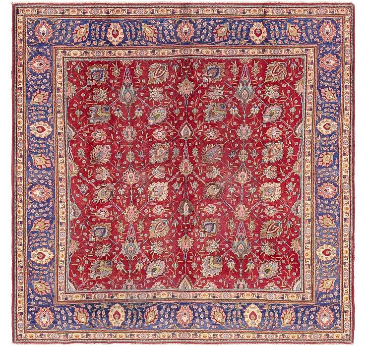 10' x 10' 2 Tabriz Persian Square Rug