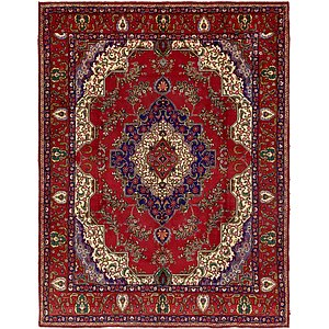 HandKnotted 10' x 13' Tabriz Persian Rug