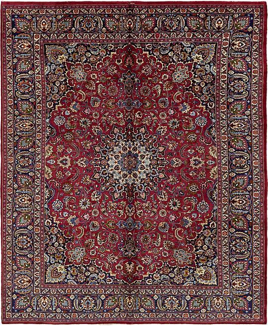 Red 9' 9 X 12' 3 Mashad Persian Rug