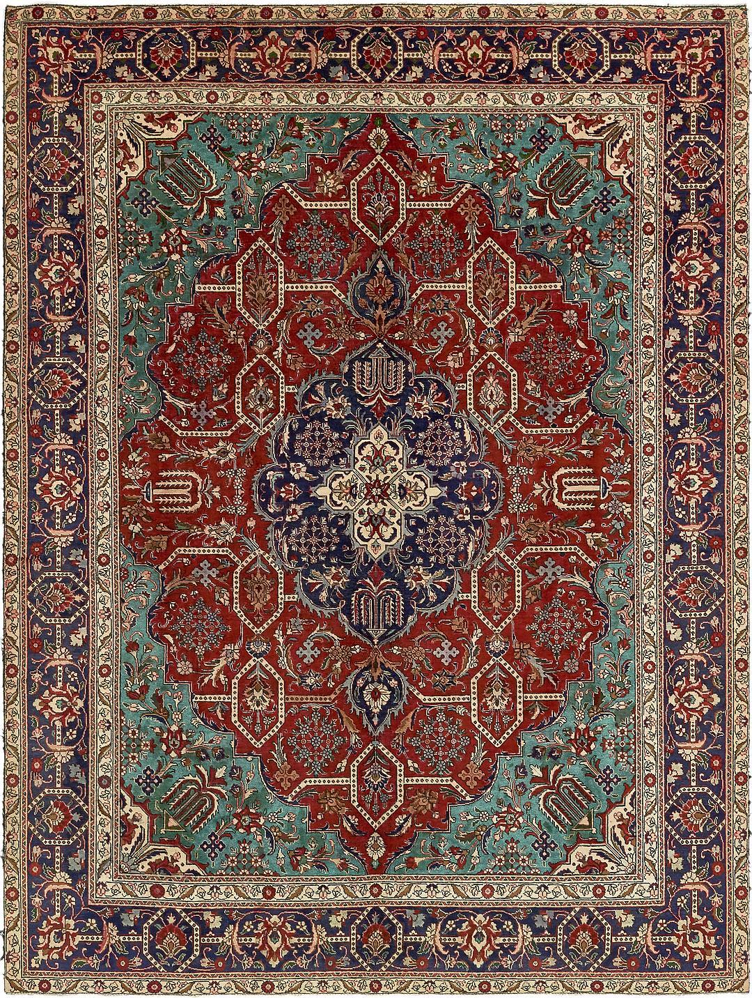Red 9 6 X 12 10 Tabriz Persian Rug Persian Rugs