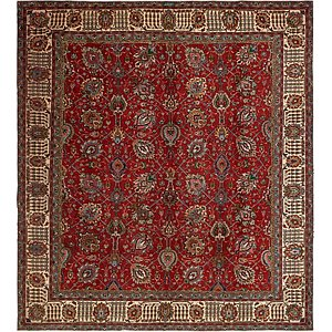 11' 2 x 12' 5 Tabriz Persian Square ...