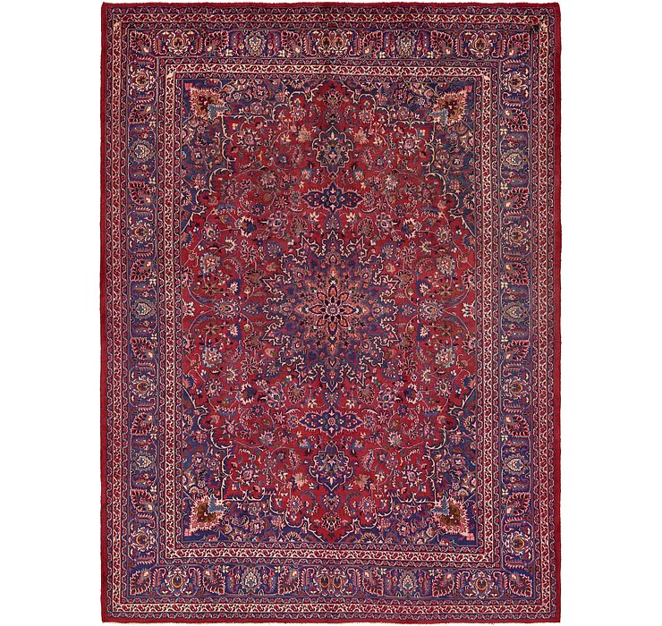 HandKnotted 9' 8 x 13' 2 Mashad Persian Rug